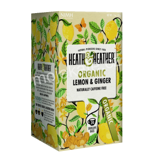 Heat & Heather Organic Citrón a Zázvor 20ks
